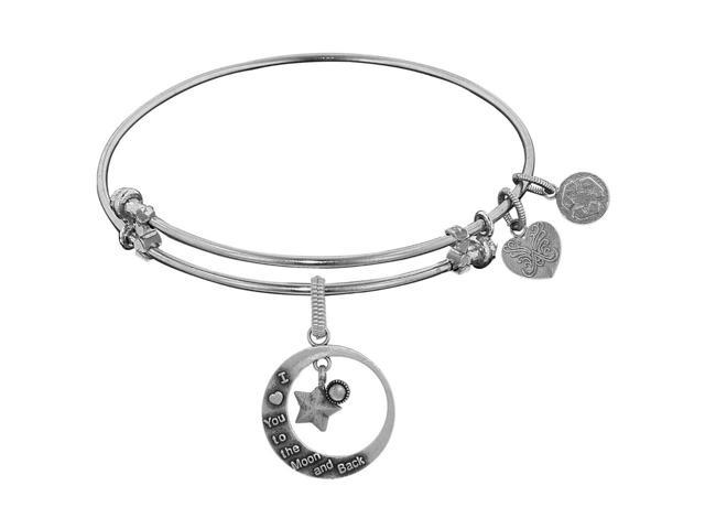Brass Love You To the Moon and Back Charm On Angelica Collection Bangle