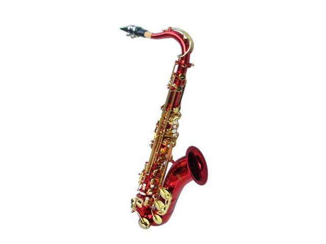 Merano B Flat Red Tenor Saxophone with Case