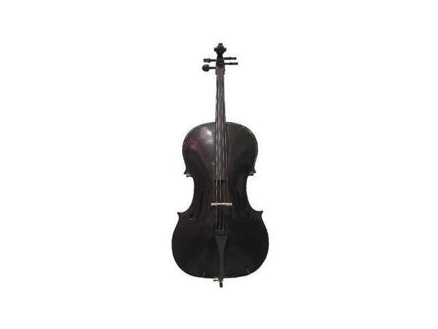 Crystalcello MC100BK 1/2 Size Black Cello with Carrying Bag