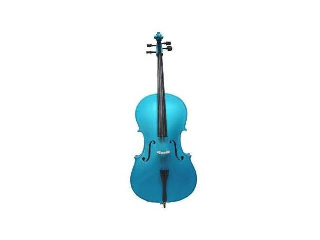 Crystalcello MC100BL 1/2 Size Blue Cello with Carrying Bag
