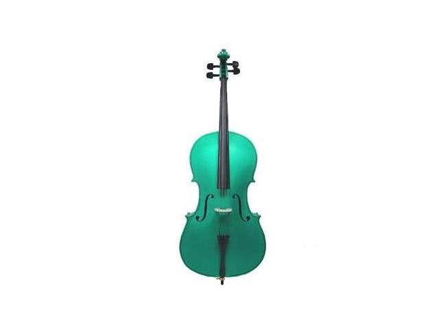 Crystalcello MC100GR 3/4 Size Green Cello with Carrying Bag