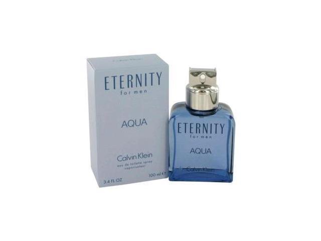 Eternity Aqua by Calvin Klein Eau De Toilette Spray 3.4 oz