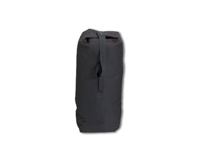 Top Load Canvas Duffle Bag, Small - Black