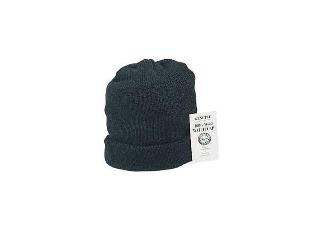 Genuine US Navy Black Wool Watch Cap