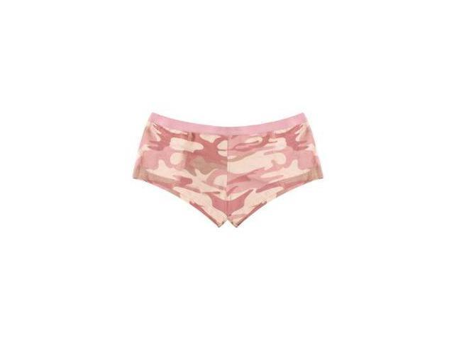 "Womens Baby Pink Camo ""Booty Camp"" Booty Shorts"