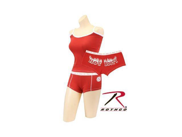 "Womens Red Firefighter ""Hot Booty"" Booty Shorts"