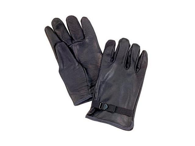 D3A Leather Gloves in Black