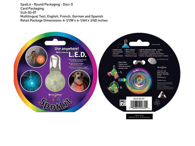 Nite Ize SpotLit L.E.D. Carabiner Light Disco SLG-03-07