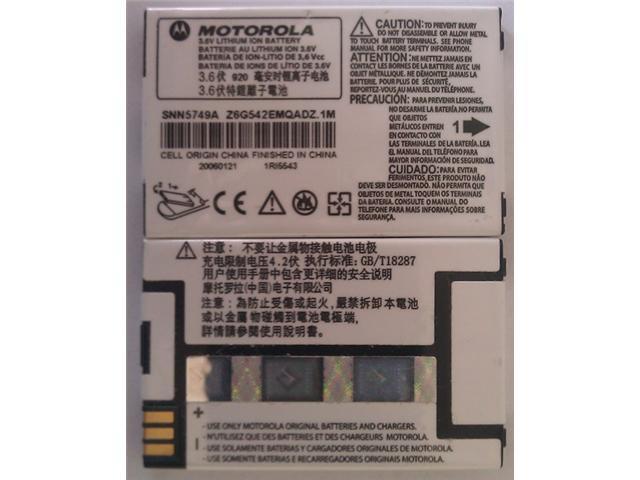 MOTOROLA OEM SNN5749A BATTERY FOR C115 C139 C155 V170 V171