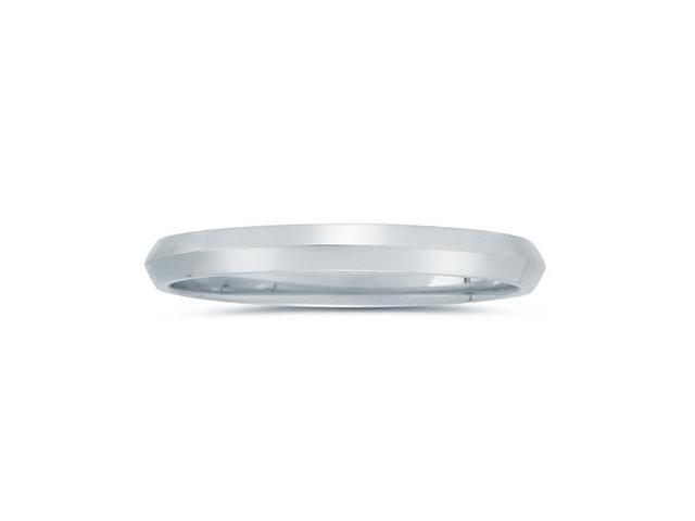 3 mm Knife Edge Comfort-Fit Wedding Band in 14k White Gold