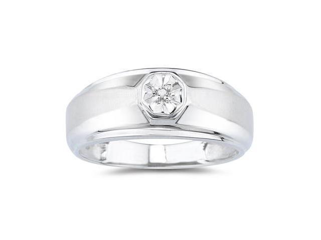 Men's Diamond Ring White Gold