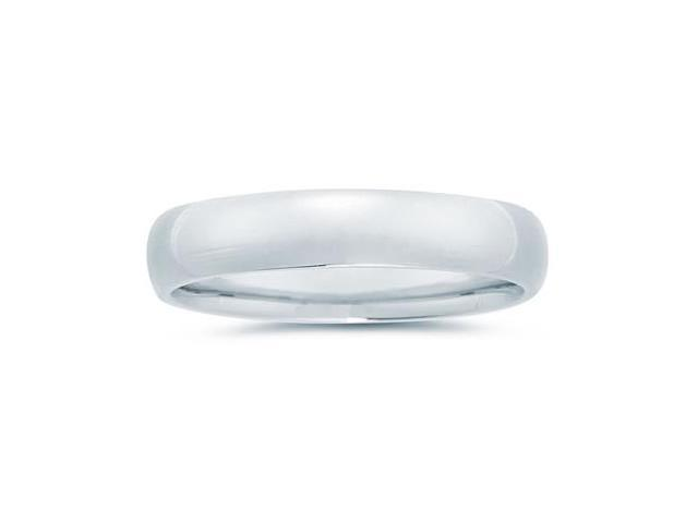 5 mm Plain Domed Comfort-Fit Wedding Band in Platinum
