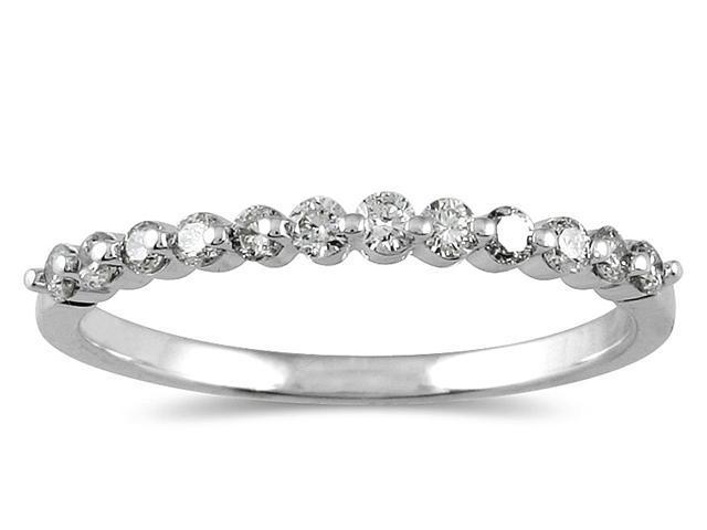 1/4 Carat Diamond Wedding Band in 10K White Gold