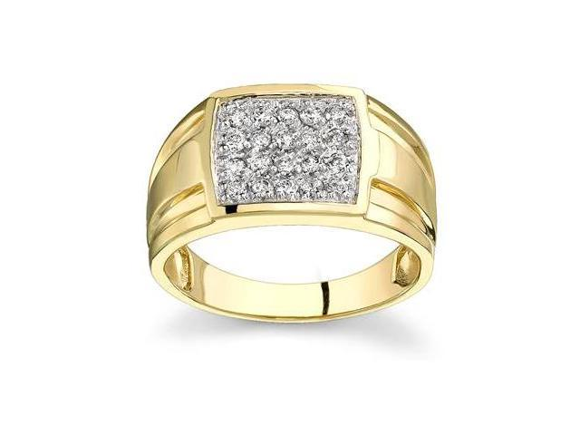 10kt Yellow Gold Diamond Men's Ring