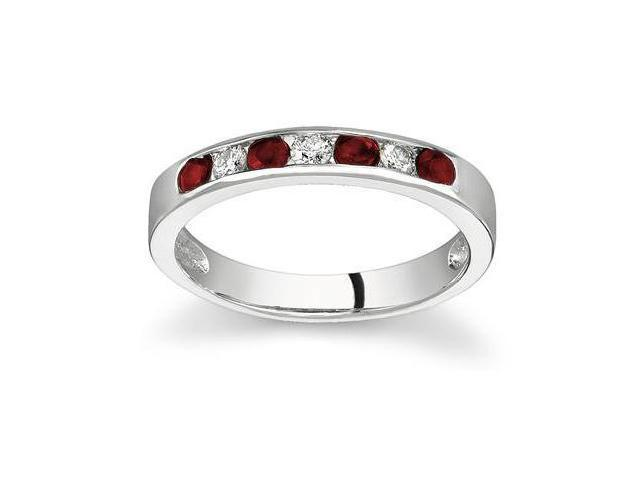Ruby and Diamond Stackable Channel Ring