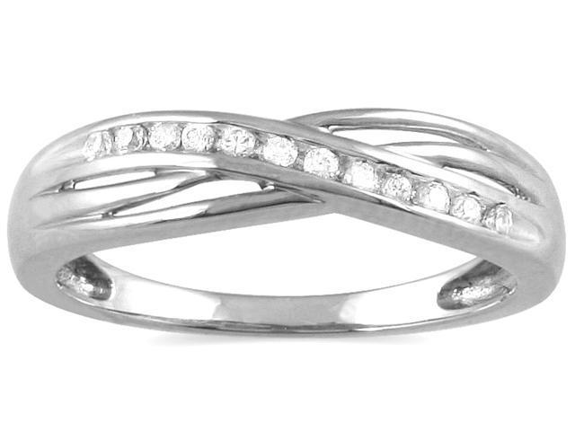 1/10 Carat TW Diamond Ring 10K White Gold