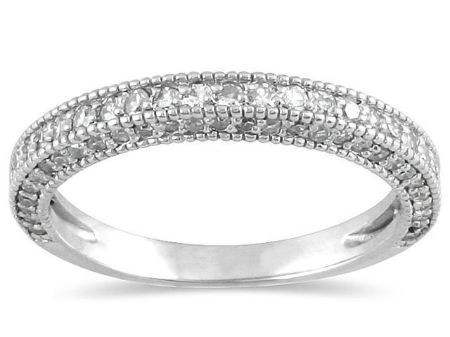 1/2 Carat Diamond Wedding Band in 10K White Gold