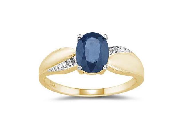Sapphire and Diamond  Ring 10K yellow Gold