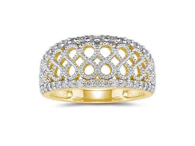 Diamond Rope Twist Ring in Yellow  Gold
