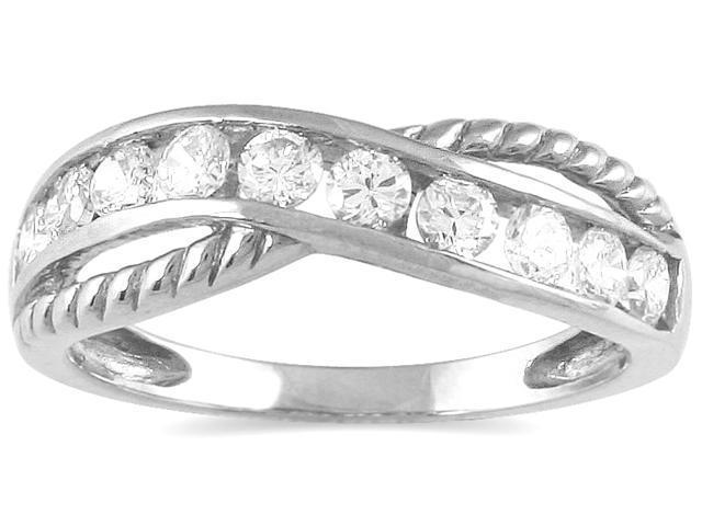 1/2 Carat TW 10 Stone Diamond Ring in 10K White Gold