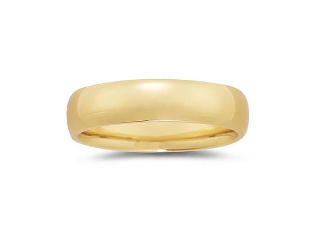 6 mm Plain Domed Comfort-Fit Wedding Band in 14k Yellow Gold