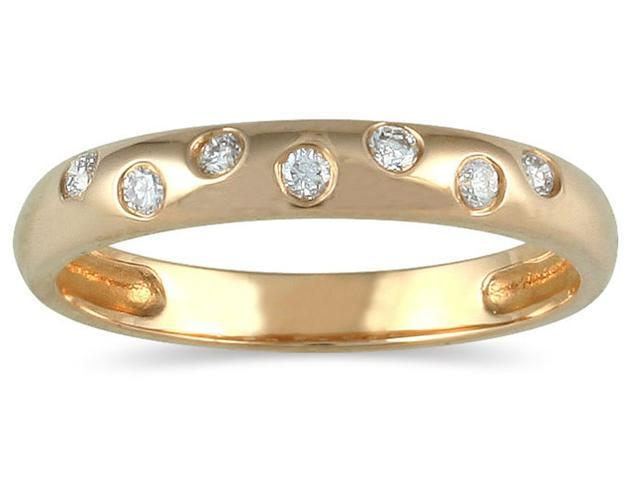 Seven Sparkles Yellow Gold Diamond Band