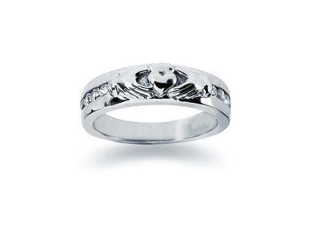 0.32 ctw. Woman's Round  Diamond Wedding Band in 14K White Gold
