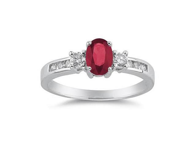 Ruby and Diamond Regal Channel Ring
