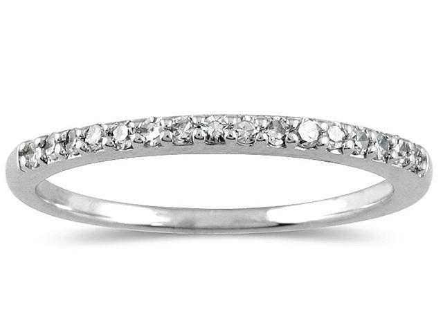1/6 Carat Diamond Wedding Band in 10K White Gold