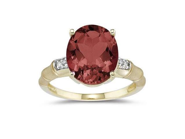 3.97 Carat  Garnet and Diamond Ring in 14K Yellow Gold