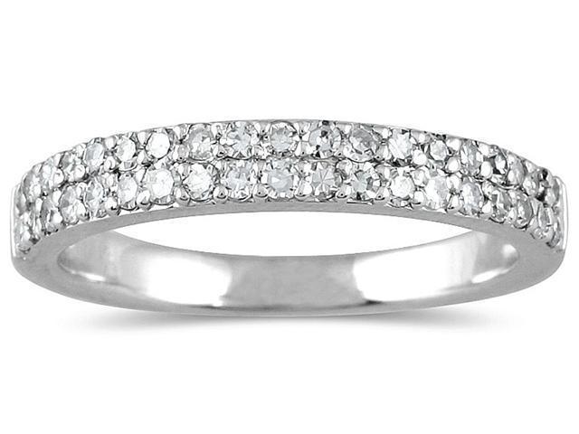 3/8 Carat Diamond Wedding Band in 10K White Gold