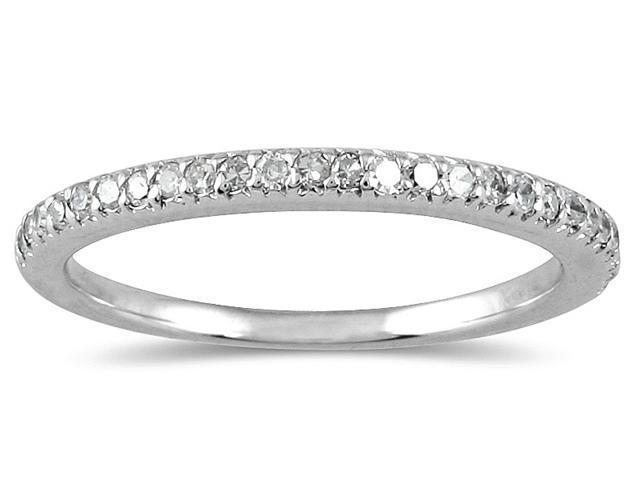 1/4 Carat Diamond Wedding Band in 10K White Gold