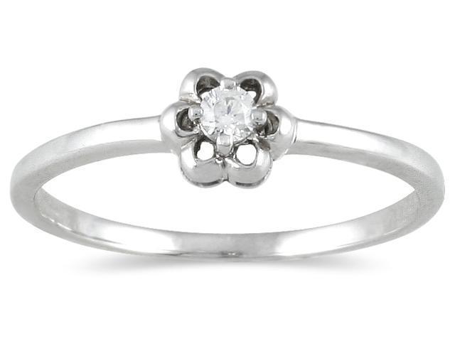 .05 Carat Diamond Promise Ring in 10K White Gold