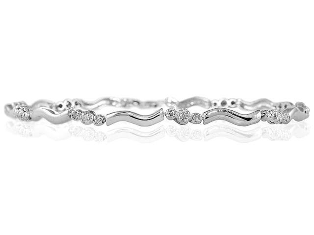 1/4 Carat Three Stone Diamond Bracelet in 14k White Gold
