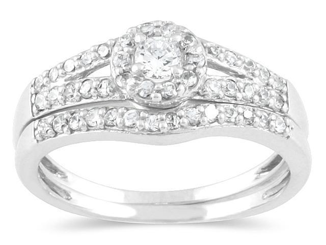 2/5 CTW Diamond Bridal Set in 10K White Gold