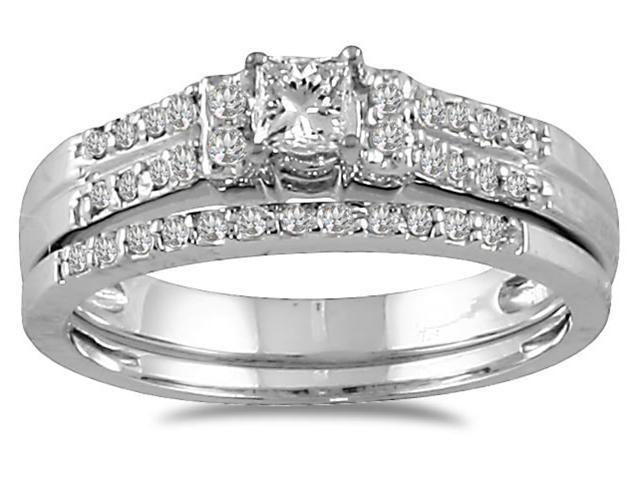 2/5 CTW Diamond Bridal Set in 10K White Gold