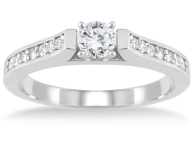 1/2 Carat T.W Diamond Ring in 10K White