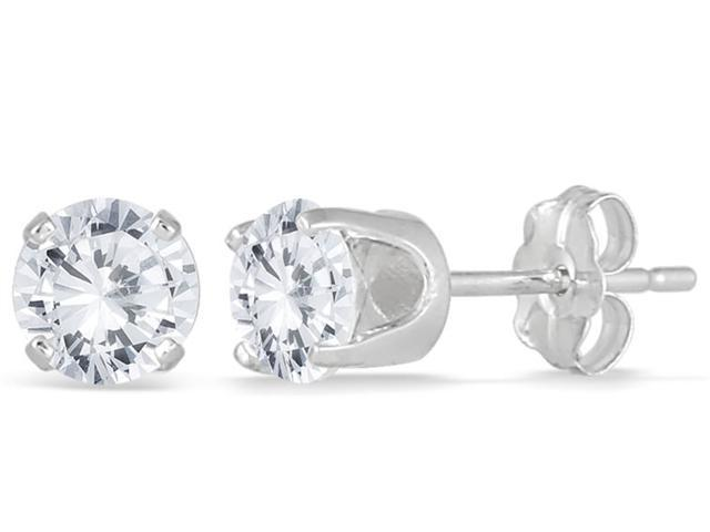 1/4 Carat TW Round Solitaire Diamond Stud Earrings in .925 Sterling Silver