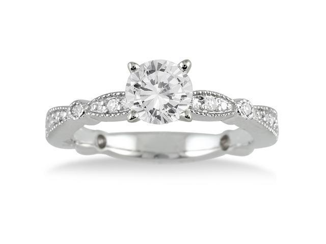 1.00 Carat Diamond Engagement Ring in 14K White Gold