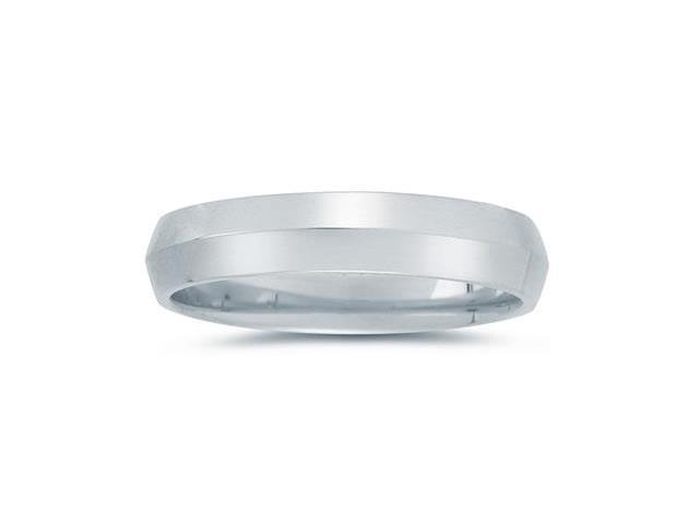 5 mm Knife Edge Comfort-Fit Wedding Band in 14k White Gold