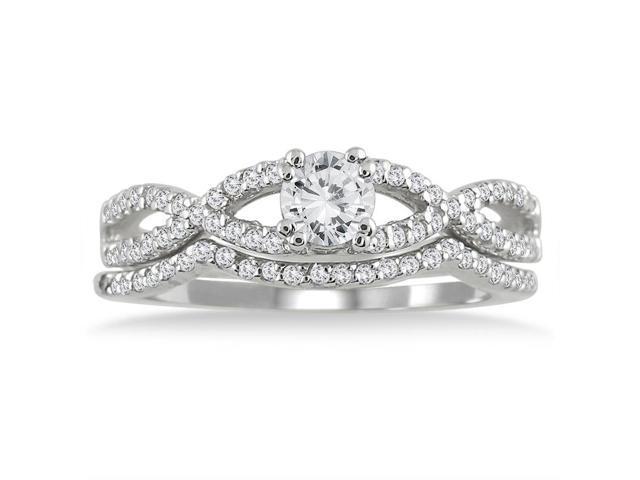 5/8 Carat Diamond Bridal Set in 10K White Gold