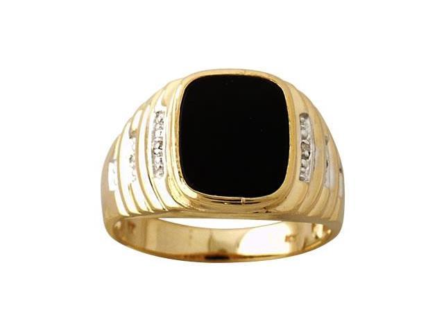 Men's Diamond Ring in 10kt Yellow Gold