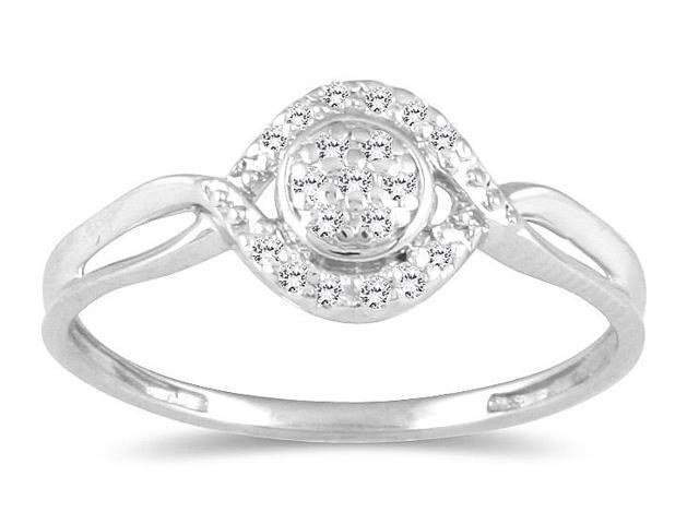 1/10 Carat TW Diamond Ring in 10K White Gold