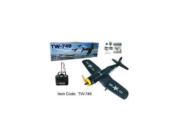4 Channel Radio Control Electric RC Airplane F4U Corsair RTF TW-748