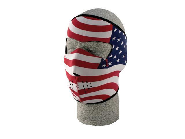 ZANheadgear Neoprene Stars and Stripes USA Flag Face Mask