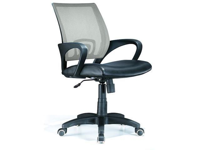 LumiSource OFC-OFFCR SV Officer Office Chair Silver