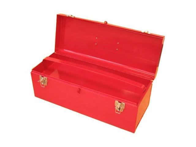 Excel Hardware 19 Inch Multipurpose Portable Metal Toolbox With Tray Red