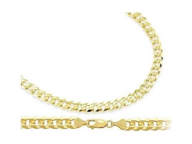 Solid Necklace 14k Yellow Gold Cuban Chain Curb Link 3.8mm - 22 inch