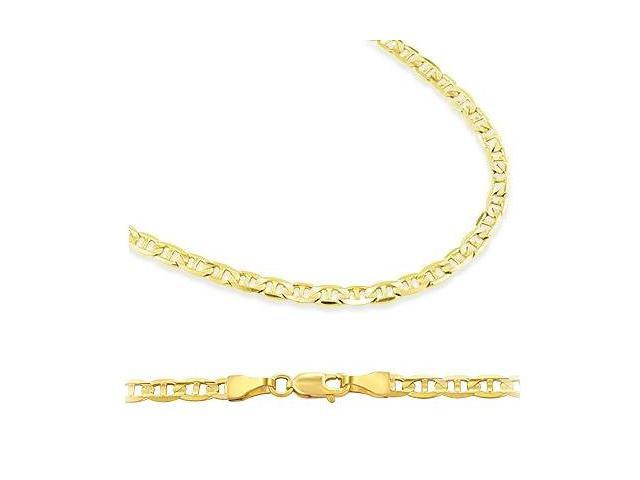 14k Yellow Gold Necklace Mariner Chain Mens Womens Solid 1.7mm - 22 inch
