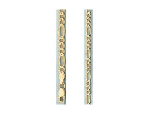 Mens Womens Bracelet 14k Yellow Gold Pave Link Solid 2.5mm 7 inches